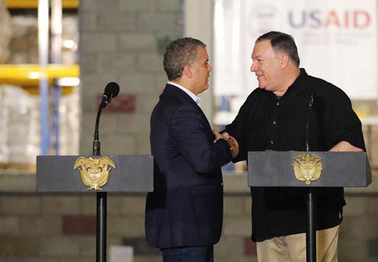 وزير خارجية امريكا بالرئيس الكولومبى (7)