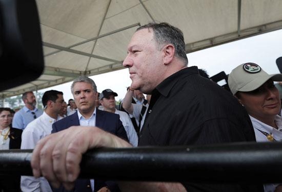 وزير خارجية امريكا بالرئيس الكولومبى (3)