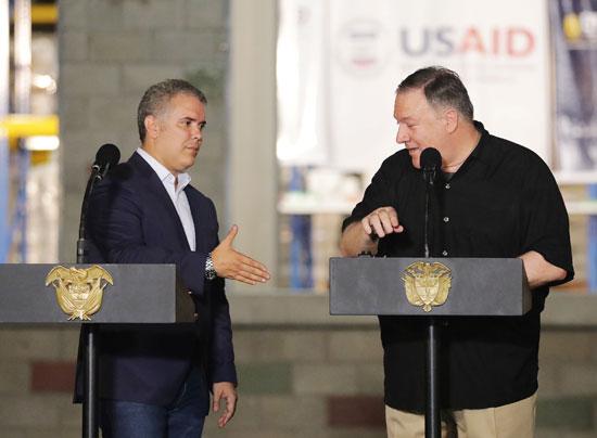 وزير خارجية امريكا بالرئيس الكولومبى (8)
