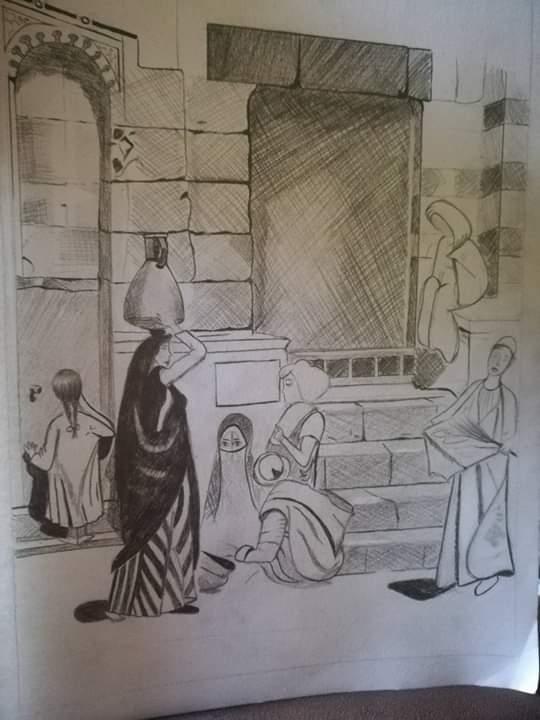 فتاة من الغربية تبدع فى الرسم (10)