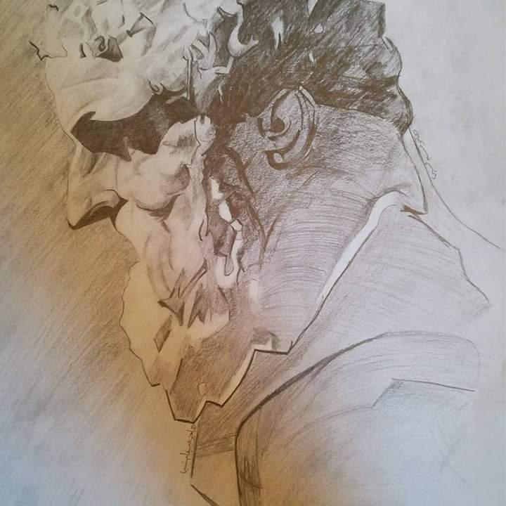 فتاة من الغربية تبدع فى الرسم (6)