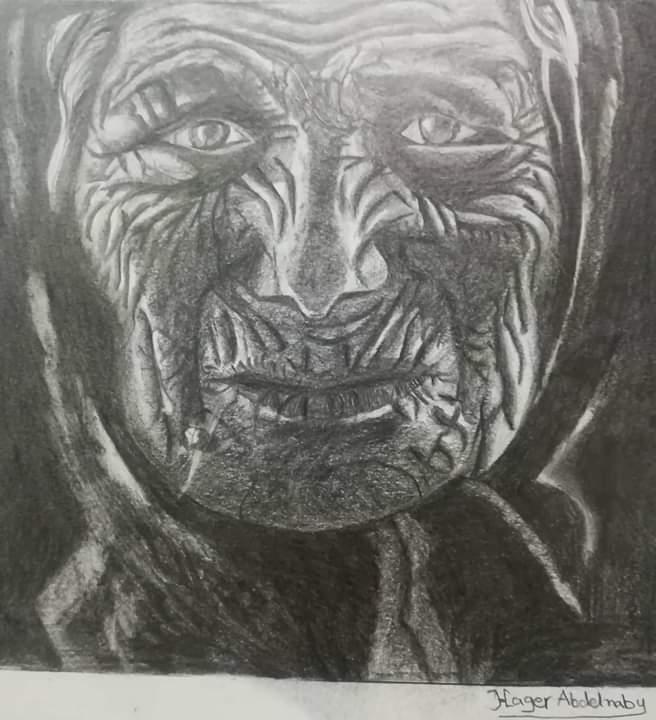 فتاة من الغربية تبدع فى الرسم (2)