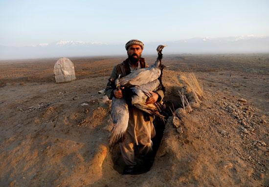 حياة صائد الطيور الأفغانى فى حقل باجرام  (12)