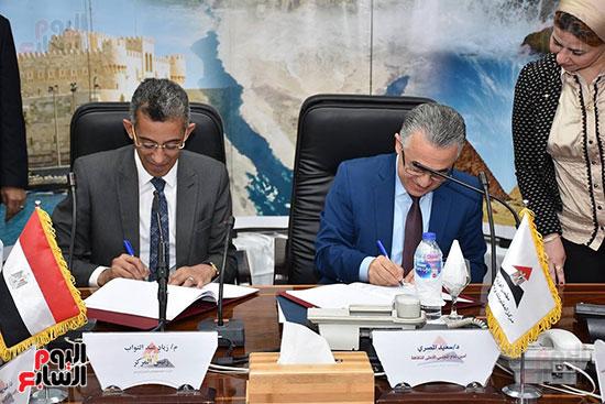 توقيع برتوكول تعاون في مركز المعلومات لمجلس الوزراء (2)