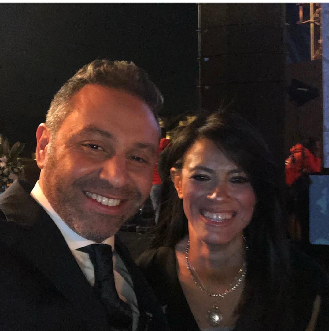 حازم إمام و زميلة الدراسة الوزيرة رانيا المشاط