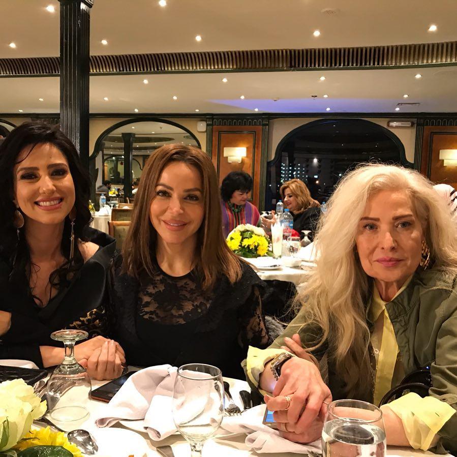 Hanan Mutava and the Syrian artist Raghada