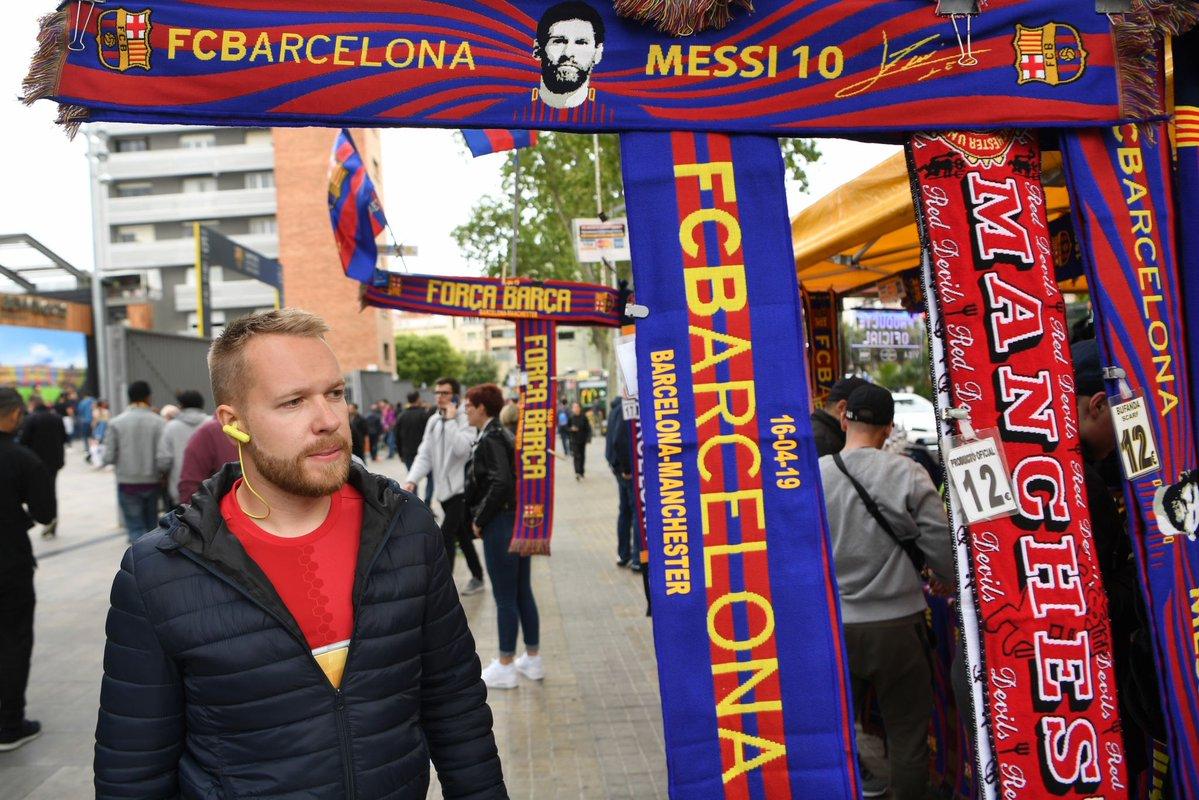 الجماهير قبل قمة برشلونة ضد مانشستر يونايتد (8)