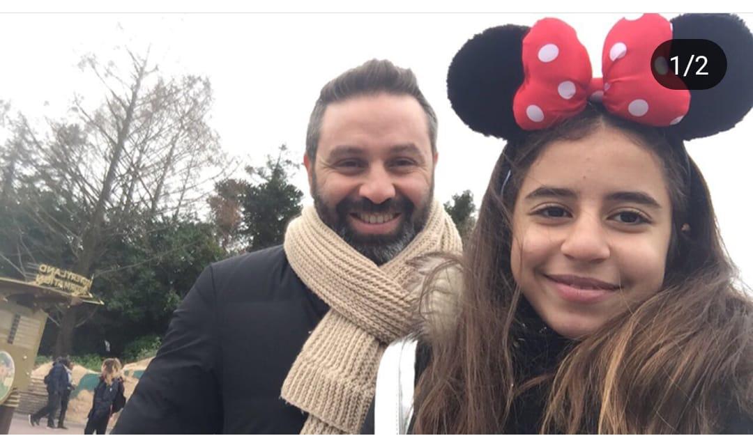 حازم إمام و أبنته هيا
