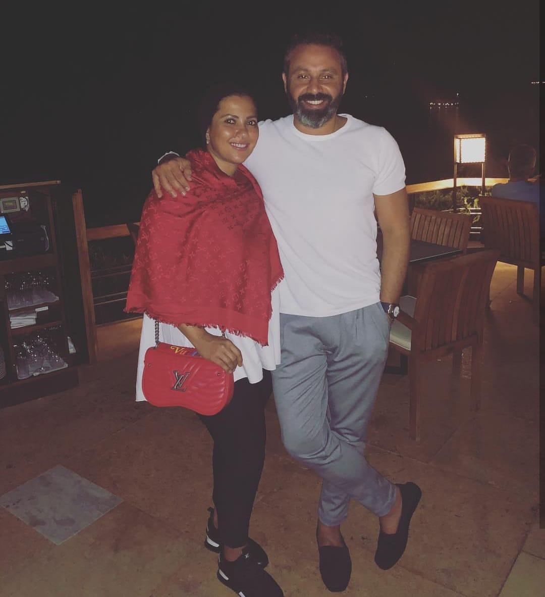 حازم إمام و زوجته قدرية