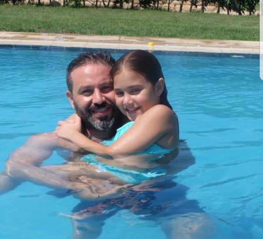 حازم إمام و إبنته تاليا