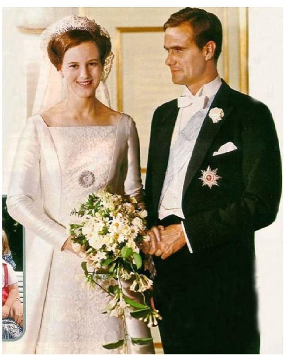 جانب من حفل زفاف الملكة مارجريت الثانية
