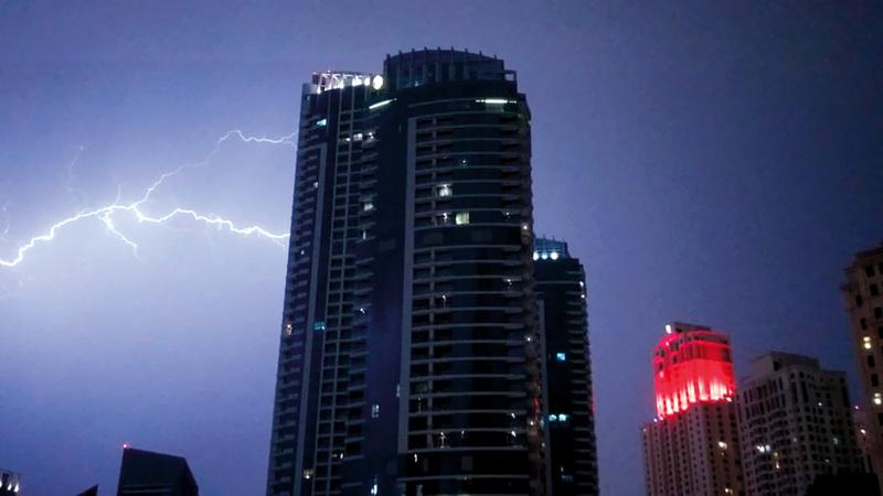 البرق فى دولة الإمارات