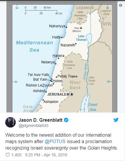 خريطة الجولان