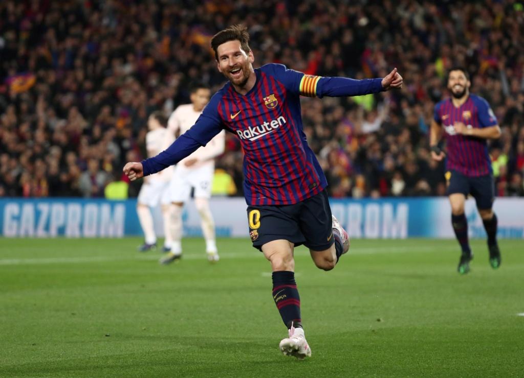 ميسي يتألق في مباراة برشلونة ضد مانشستر يونايتد
