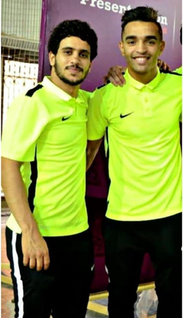 عبد الله جمعة مع زميله يوسف أوباما