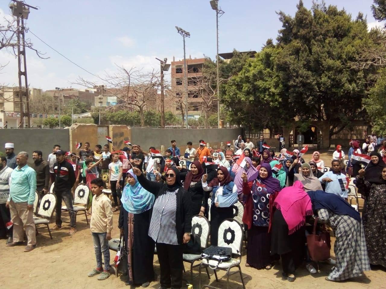 المجلس القومي للمرأة  ينظم فعاليات حملة صوتك لمصر بكرة بالجيزة (2)