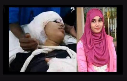 فتاة التحرش الجنسى فى بنجلاديش قبل وبعد الحرق