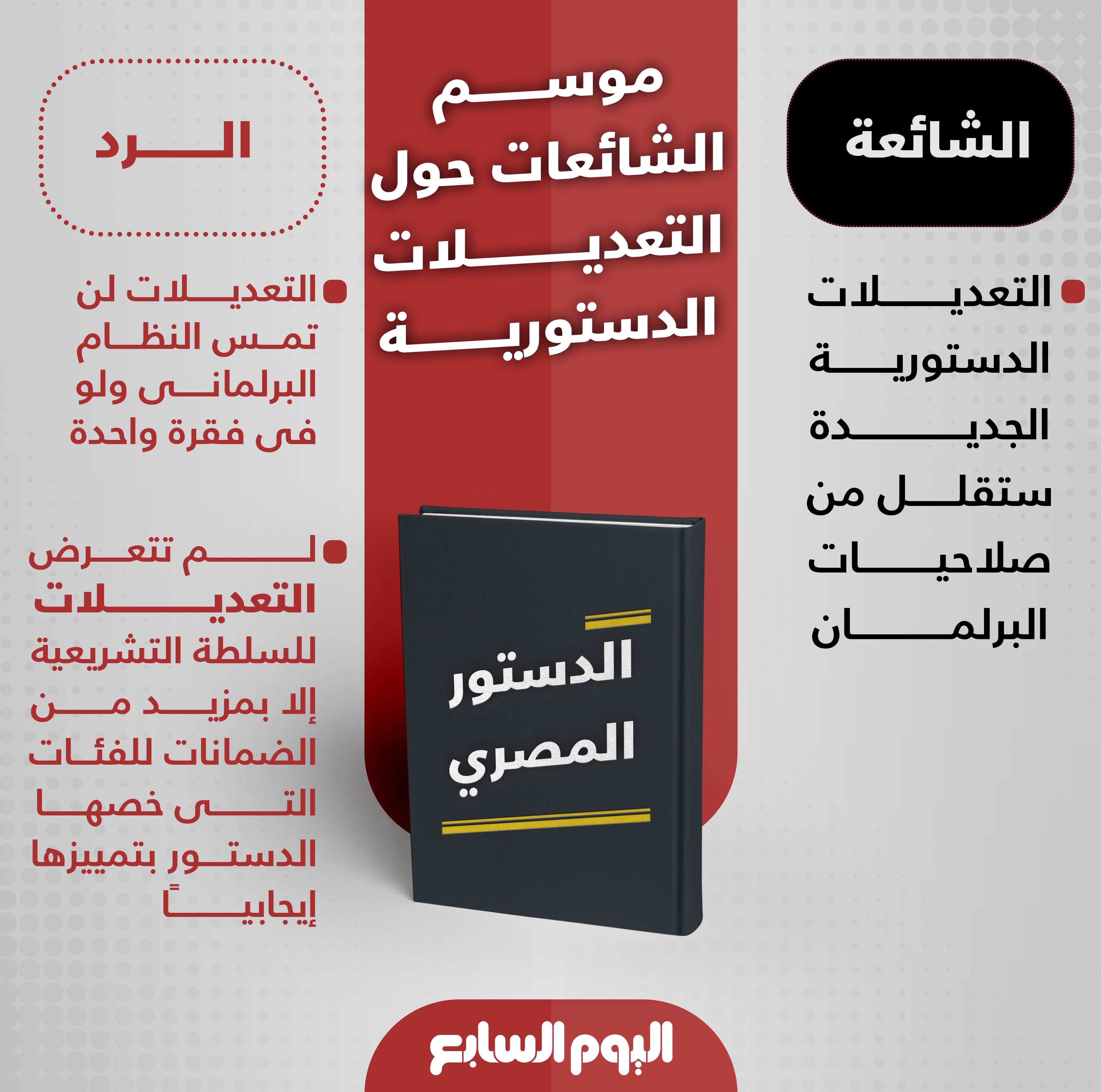 الشائعات حول تعديلات الدستور (1)