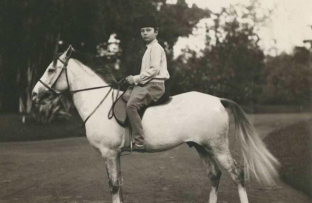 الملك فاروق على حصانه