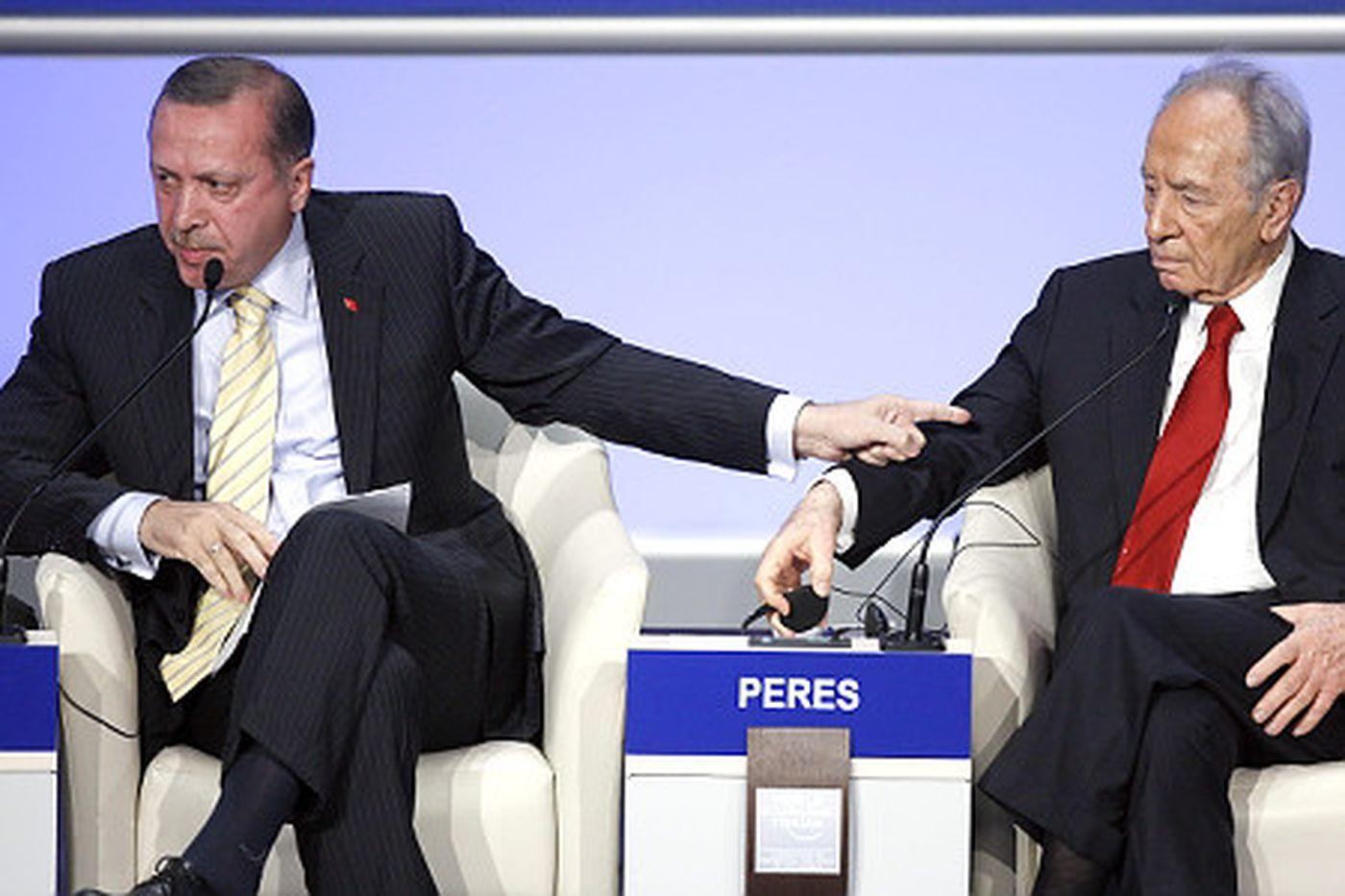 أردوغان وبيريز