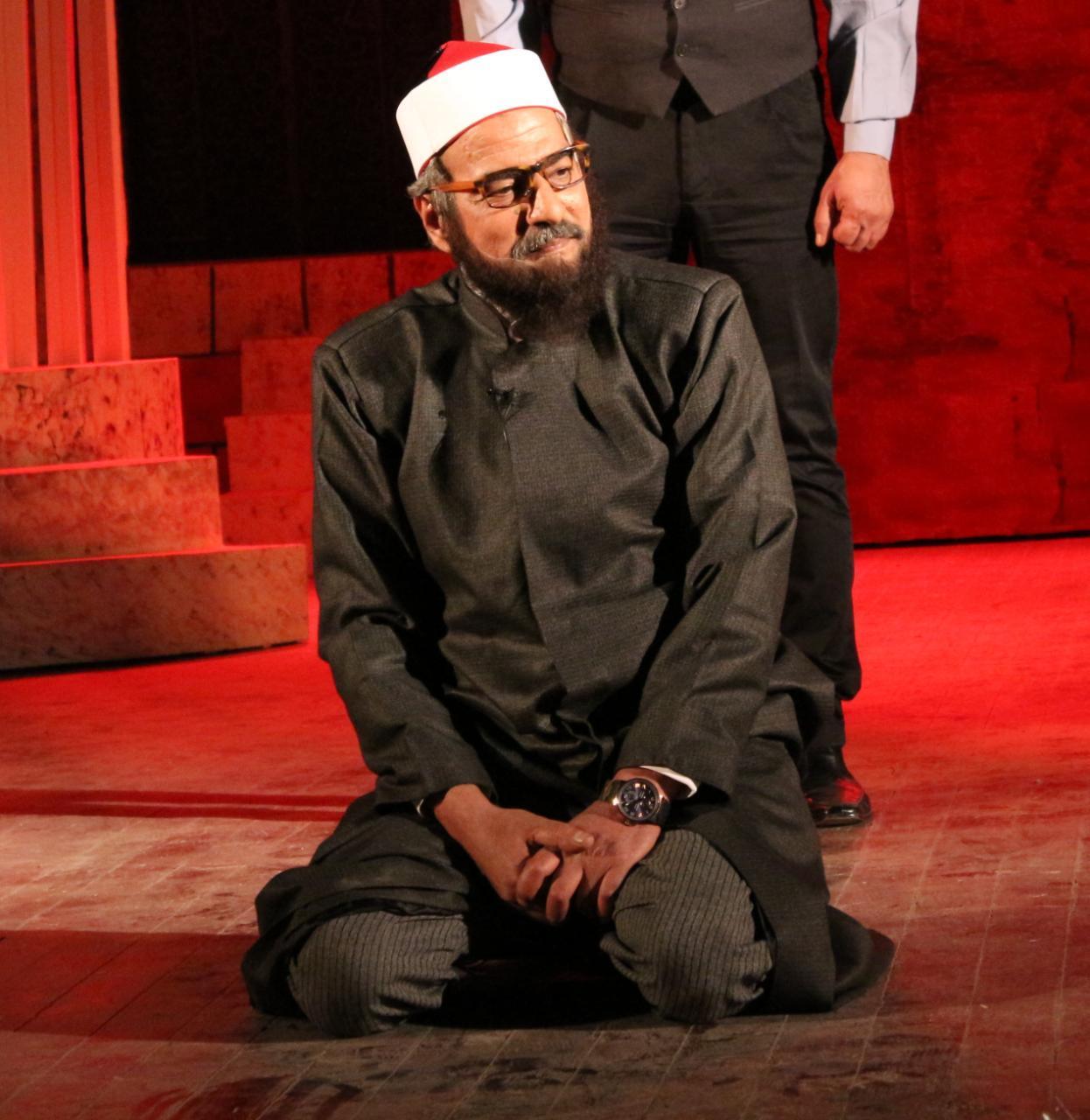 مشهد من مسرحية الحالة توهان