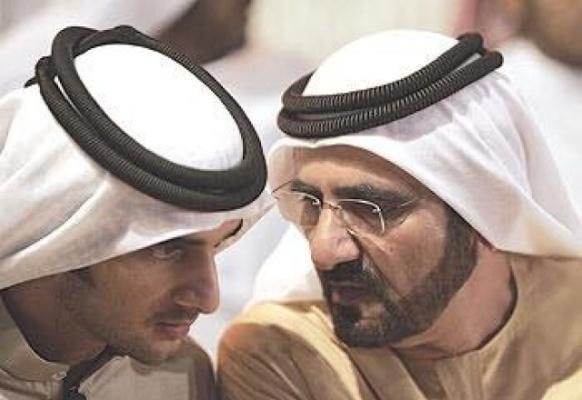 حاكم دبى مع راشد بن محمد بن راشد آل مكتوم