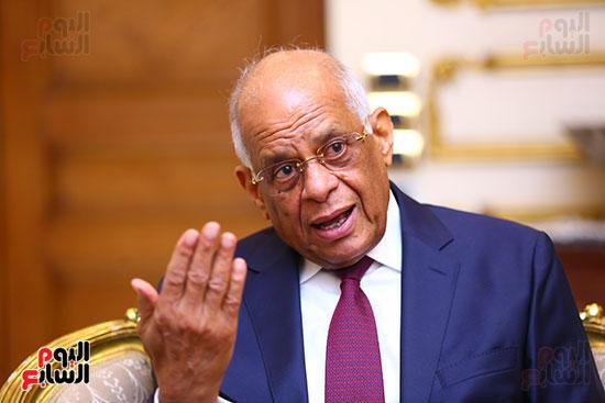 أول حوار مع الدكتور على عبد العال رئيس مجلس النواب بعد إنجاز التعديلات الدستورية (15)