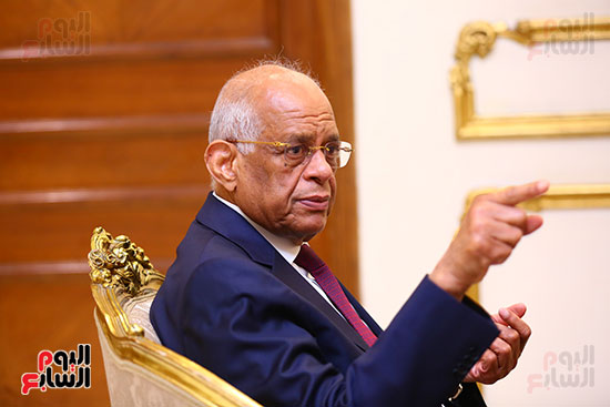 أول حوار مع الدكتور على عبد العال رئيس مجلس النواب بعد إنجاز التعديلات الدستورية (20)