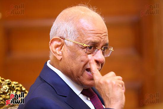 أول حوار مع الدكتور على عبد العال رئيس مجلس النواب بعد إنجاز التعديلات الدستورية (23)