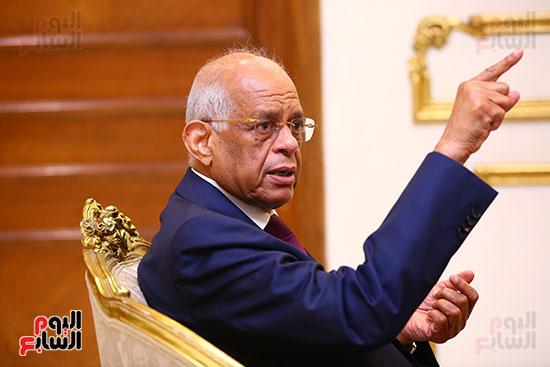 أول حوار مع الدكتور على عبد العال رئيس مجلس النواب بعد إنجاز التعديلات الدستورية (19)