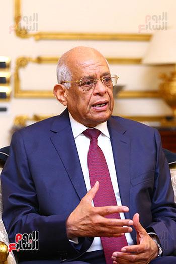 أول حوار مع الدكتور على عبد العال رئيس مجلس النواب بعد إنجاز التعديلات الدستورية (26)