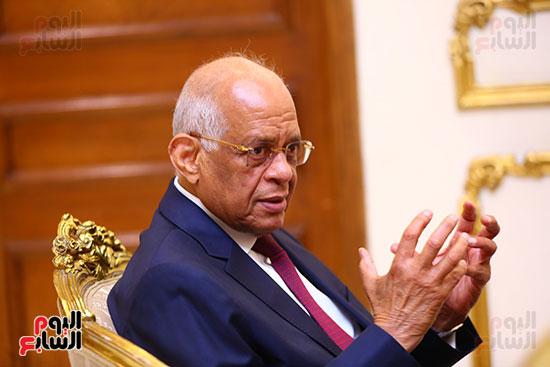 أول حوار مع الدكتور على عبد العال رئيس مجلس النواب بعد إنجاز التعديلات الدستورية (21)