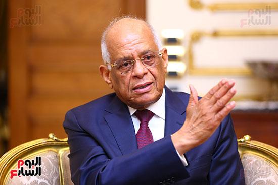أول حوار مع الدكتور على عبد العال رئيس مجلس النواب بعد إنجاز التعديلات الدستورية (6)
