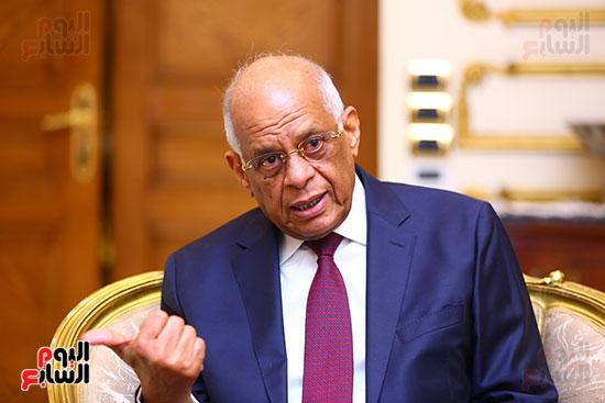 أول حوار مع الدكتور على عبد العال رئيس مجلس النواب بعد إنجاز التعديلات الدستورية (12)