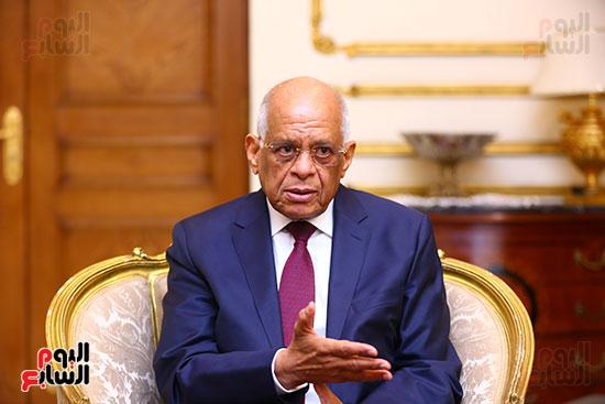 أول حوار مع الدكتور على عبد العال رئيس مجلس النواب بعد إنجاز التعديلات الدستورية (14)