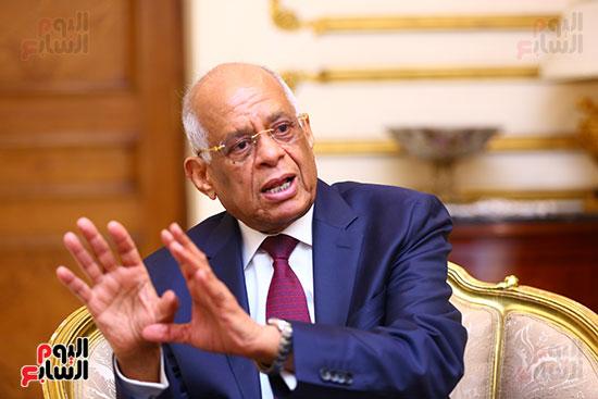 أول حوار مع الدكتور على عبد العال رئيس مجلس النواب بعد إنجاز التعديلات الدستورية (7)