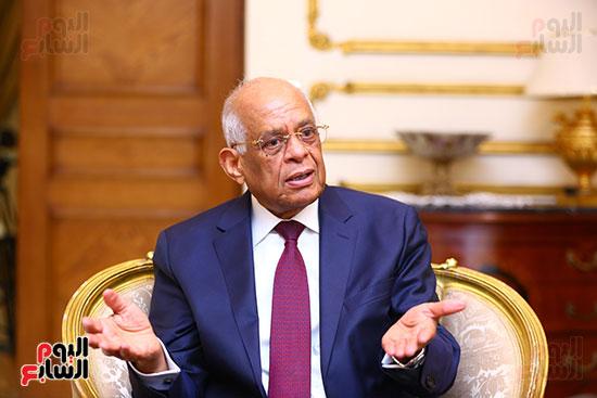 أول حوار مع الدكتور على عبد العال رئيس مجلس النواب بعد إنجاز التعديلات الدستورية (5)