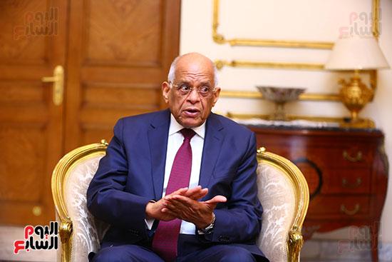 أول حوار مع الدكتور على عبد العال رئيس مجلس النواب بعد إنجاز التعديلات الدستورية (2)