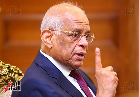 أول حوار مع الدكتور على عبد العال رئيس مجلس النواب بعد إنجاز التعديلات الدستورية (22)