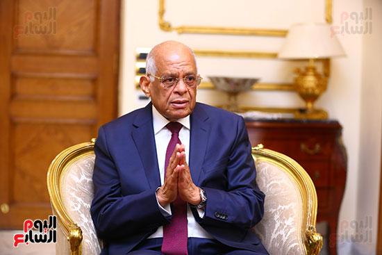 أول حوار مع الدكتور على عبد العال رئيس مجلس النواب بعد إنجاز التعديلات الدستورية (8)