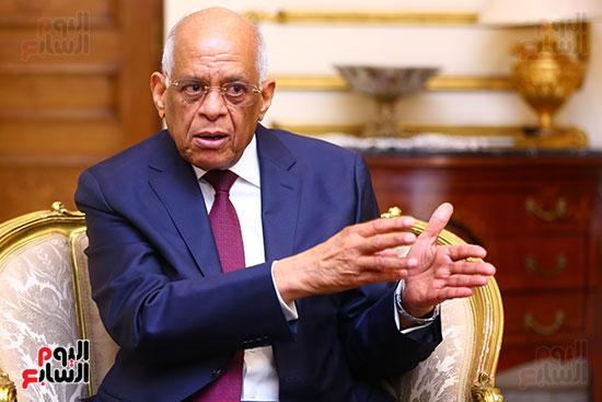 أول حوار مع الدكتور على عبد العال رئيس مجلس النواب بعد إنجاز التعديلات الدستورية (4)