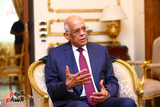 أول حوار مع الدكتور على عبد العال رئيس مجلس النواب بعد إنجاز التعديلات الدستورية (27)