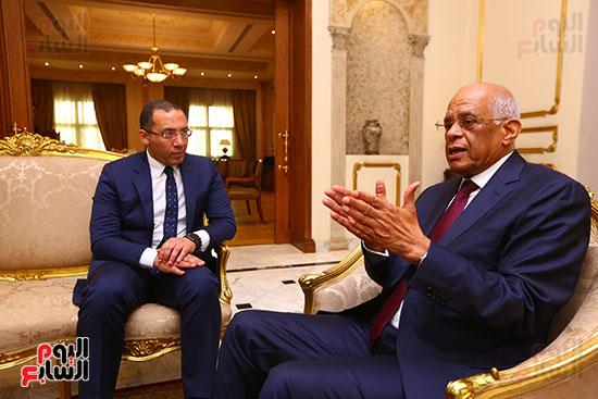 أول حوار مع الدكتور على عبد العال رئيس مجلس النواب بعد إنجاز التعديلات الدستورية (17)