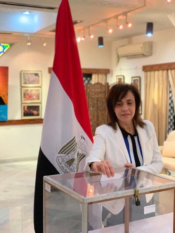 المصريون فى الهند خلال الاستفتاء (1)