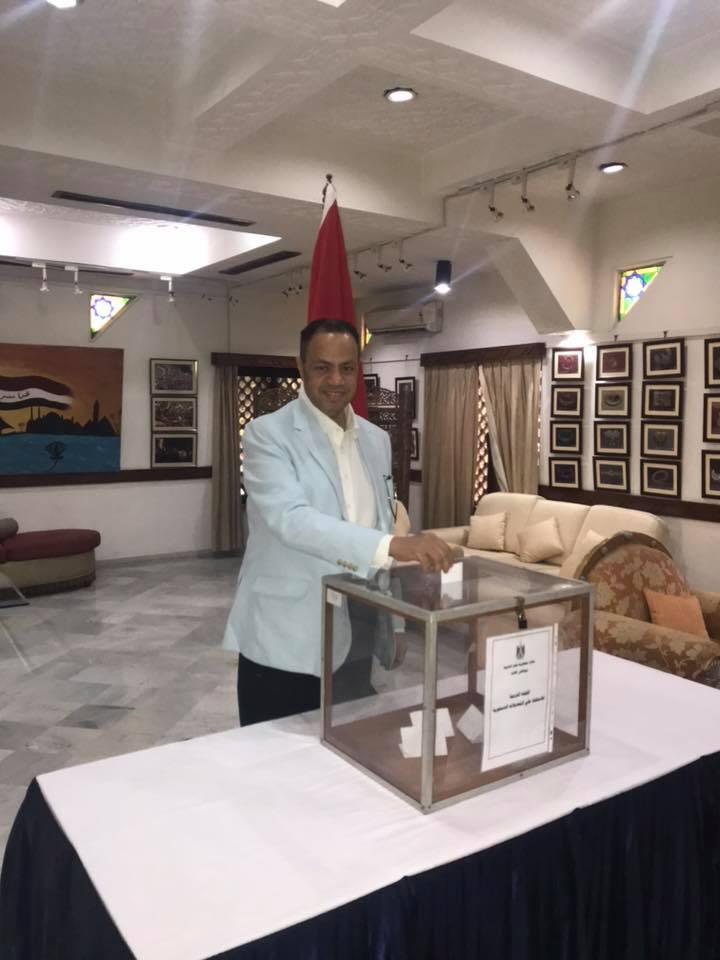 المصريون فى الهند خلال الاستفتاء (3)
