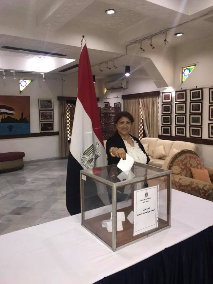 المصريون فى الهند خلال الاستفتاء (4)