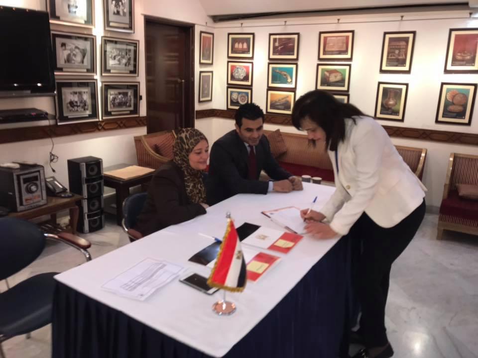 المصريون فى الهند خلال الاستفتاء (2)