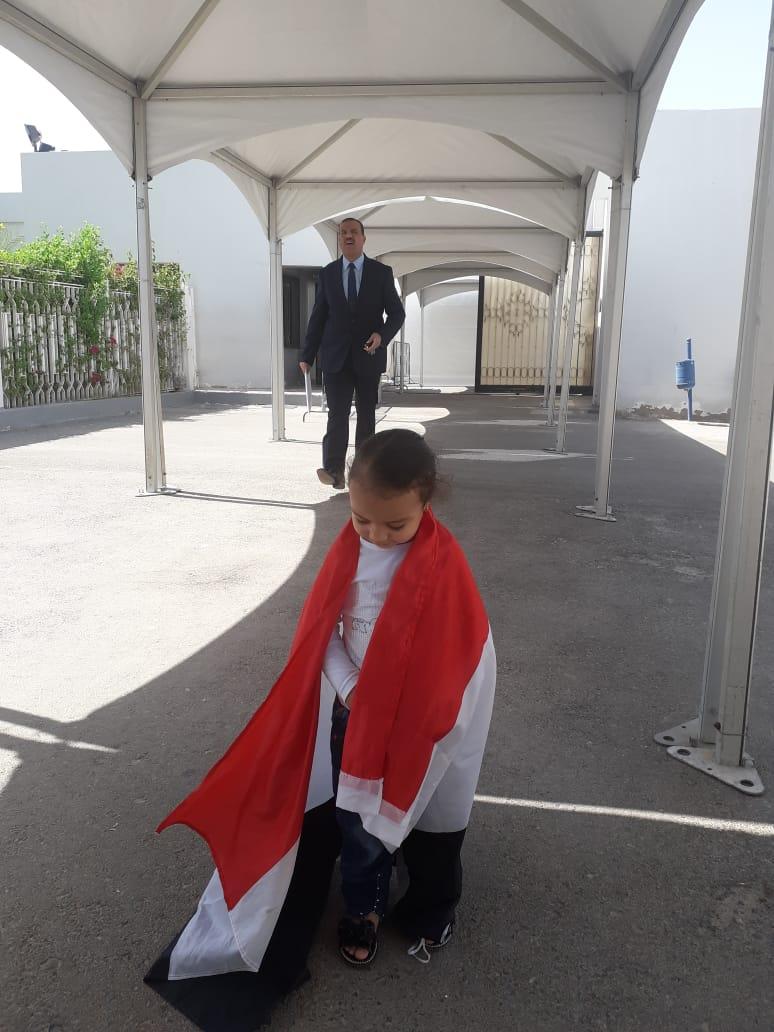 اطفال فى سفارة ابو ظبى