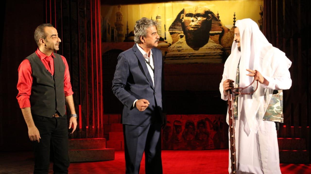 جمال عبد الناصر في افتتاح المسرحية