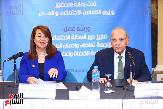 بروتوكول تعاون بين وزارة التضامن وصندوق مكافحة الادمان (4)